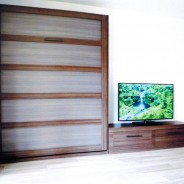 Entertainment Center with a Wall Bed